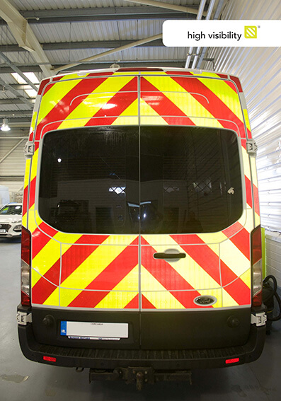 Ford vehicle with 3M Chevron in Esmark Finch WorkShop
