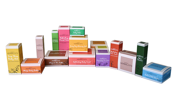 Esmark Finch design Dublin Herbalist range of packaging