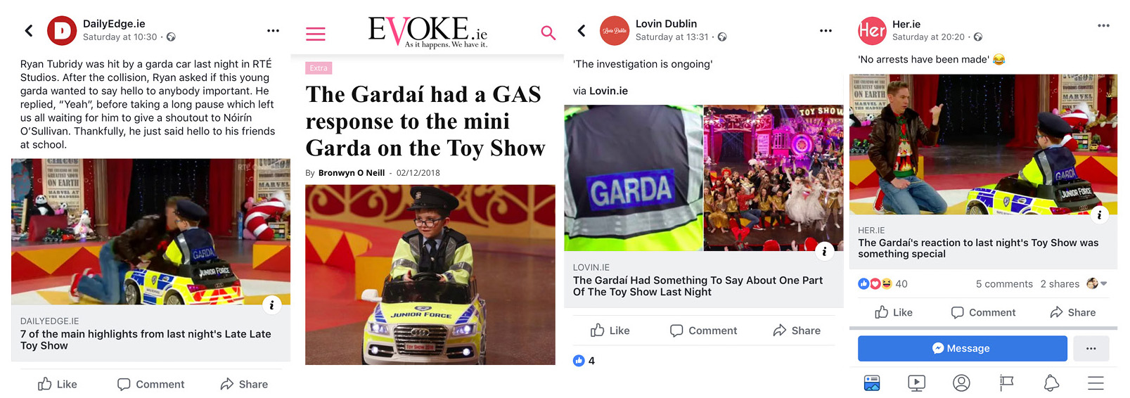 articles reactions to junior force garda car