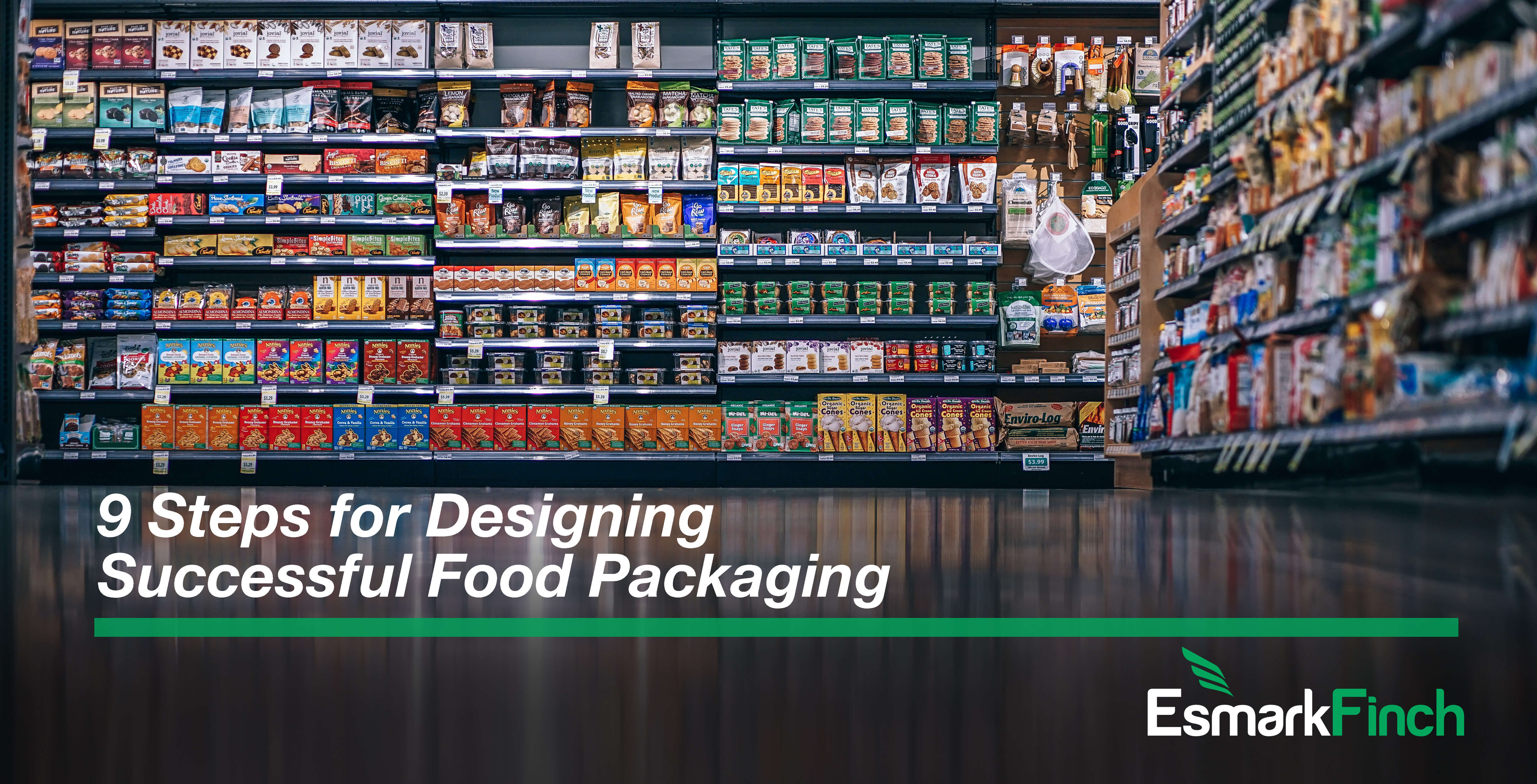 9 designs for designing successful food packaging with Esmark Finch