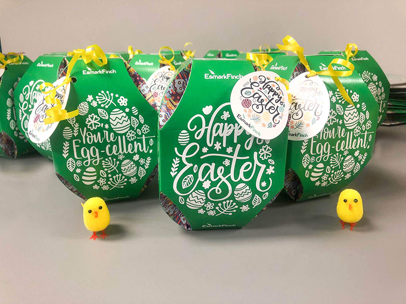 easter packaging client gifts