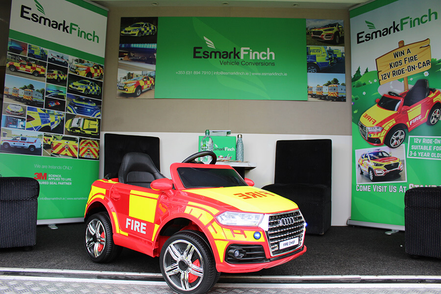Esmark Finch Vehicles at Trade Show