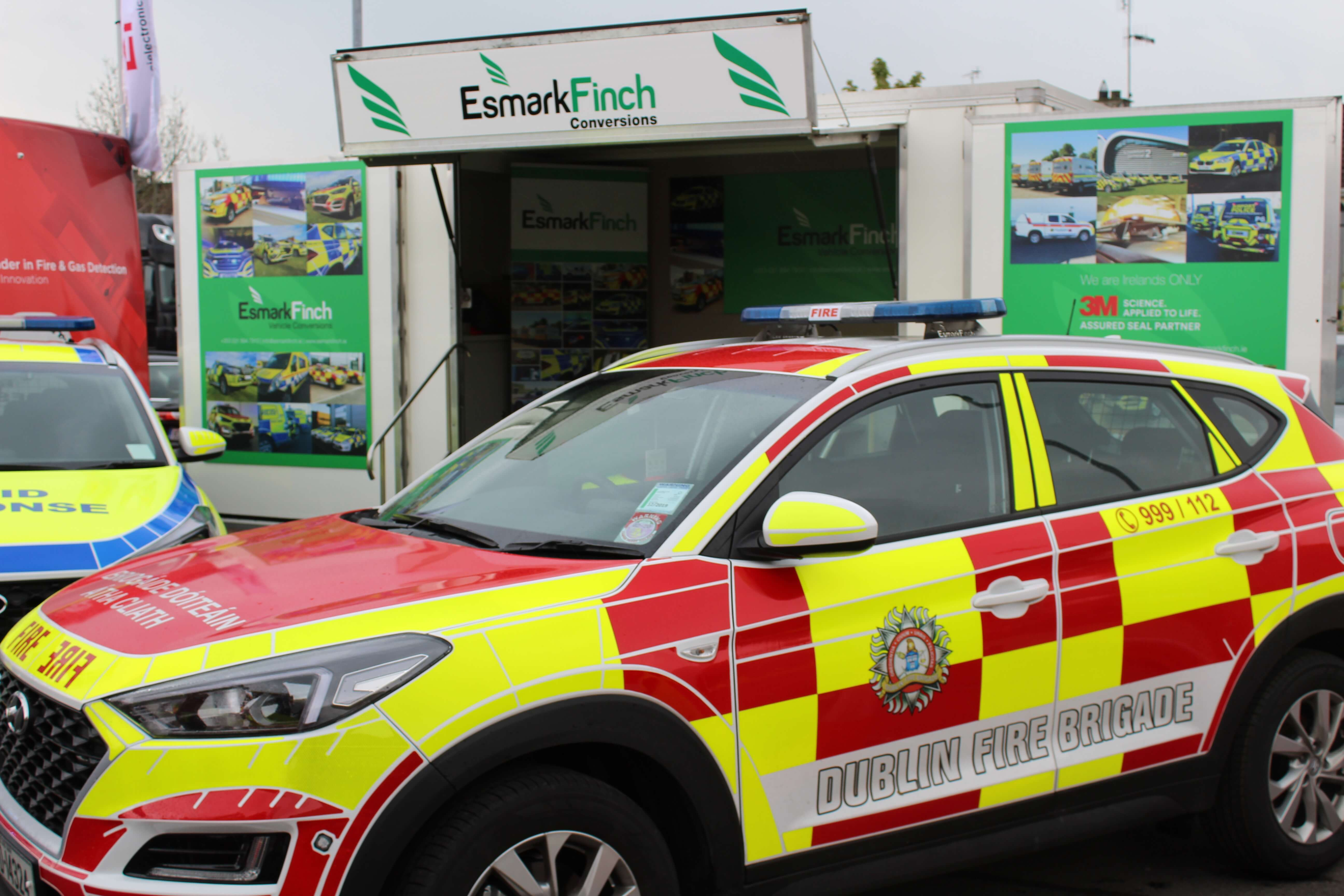 Dublin Fire Brigade Emergency Response vehicle converted by Esmark Finch