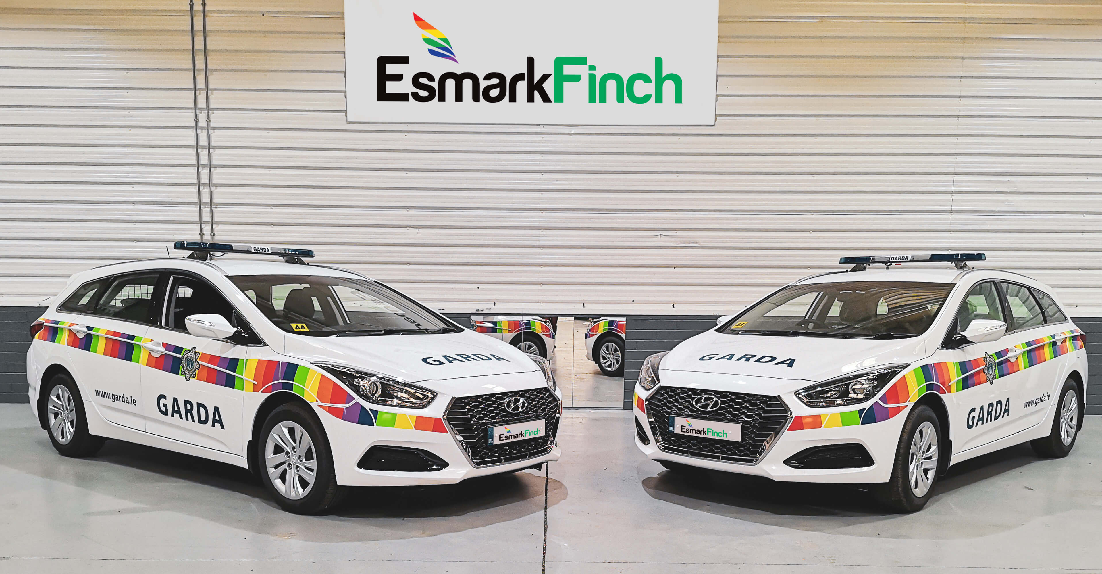 Garda Pride Cars in Esmark Finch Workshop
