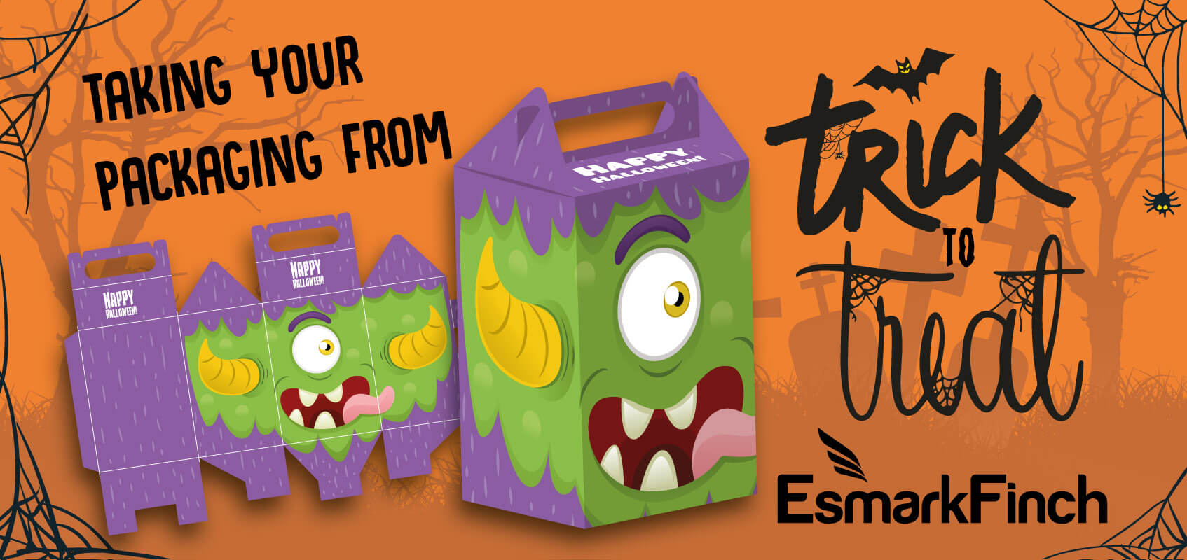 turn your packaging from a disaster to a treat with Esmark Finch